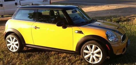 car owners manuals for sale 2007 mini cooper windshield wipe control sell used 2007 mini cooper s mellow yellow black coupe 6 speed manual transmission in