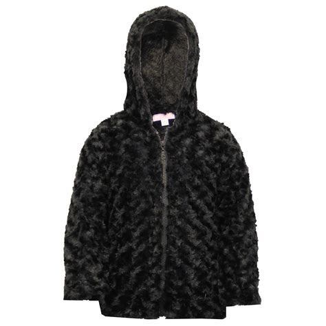 Hooded Zip Coat jacket coat knitted hooded faux fur lined zip