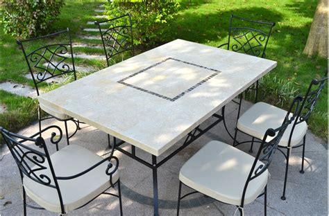 Table De Jardin Mosaique Rectangulaire Pas Cher