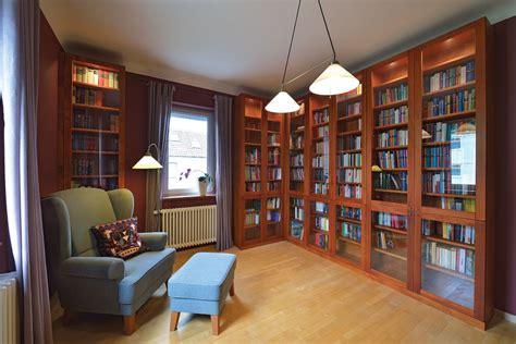 bibliothek massivholz wohnen m 246 bel schreiner holz design in dreieich