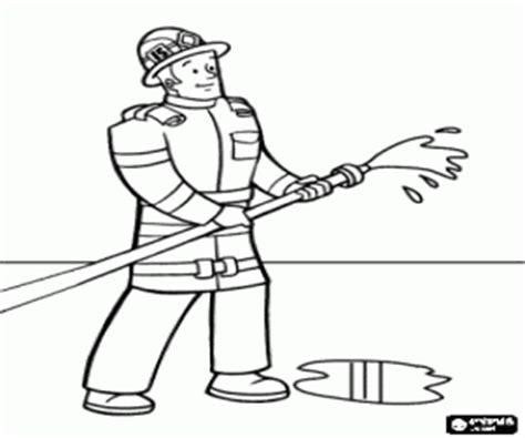 water hose coloring page firemen coloring pages printable games