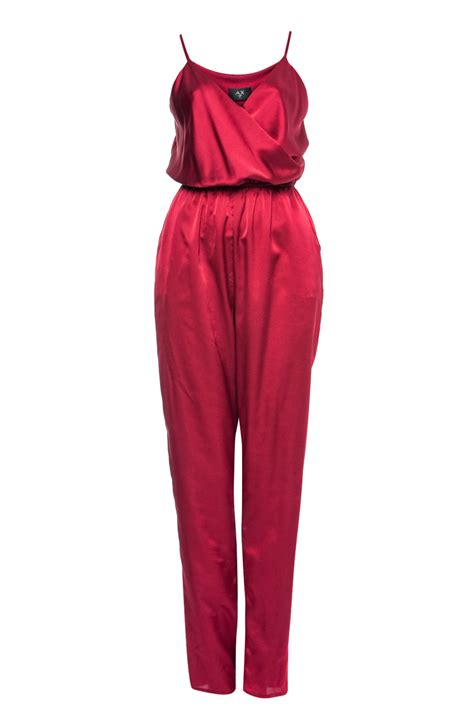 Jumpsuit Basic Silk Best Seller ax womens strappy satin look jumpsuit wine