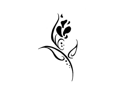 easy tattoo drawing ideas cool simple flower designs to draw clipart best