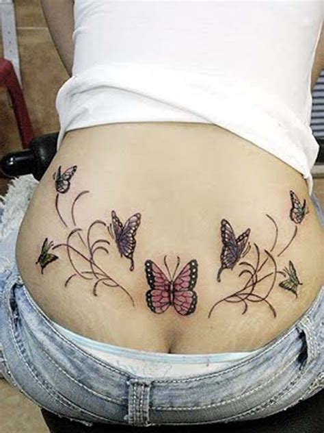 lower back butterfly tattoo designs butterfly tattoos on tiger butterfly