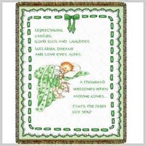 Welcome Home Baby Boy Decorations Irish Baby Tapestry Throw
