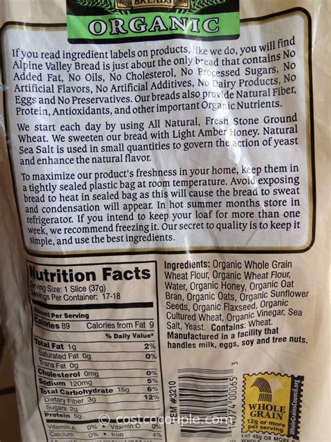 whole grain omega 3 bread alpine valley organic bread