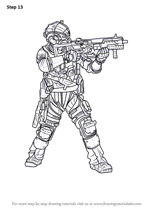 Titanfall 2 Coloring Pages by Step By Step How To Draw Cooper From Titanfall 2