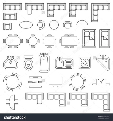 interior design symbols for floor plans standard site plan symbol