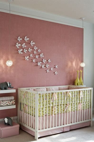 Pink Grasscloth Contemporary Nursery Toronto Pink Nursery Decor