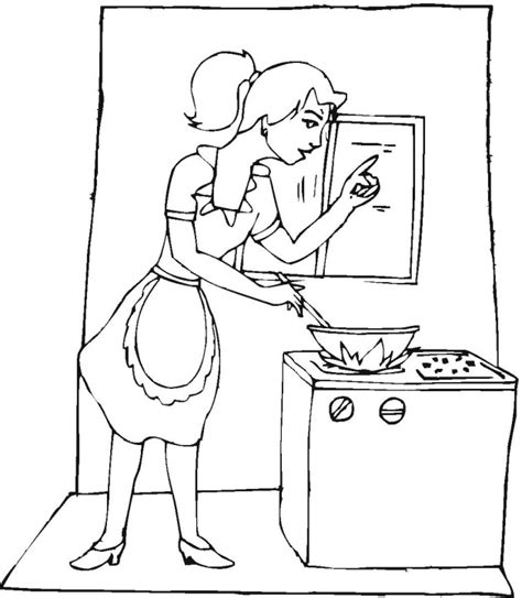 Free Cooking Coloring Pages Cooking Coloring Page