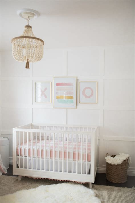 West Elm Crib by Bright White Pastel Baby Nursery Reveal