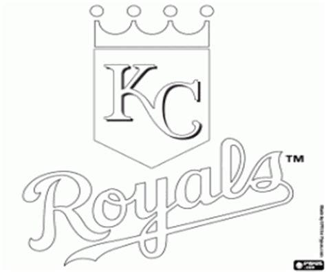 logo  kansas city royals coloring page printable game
