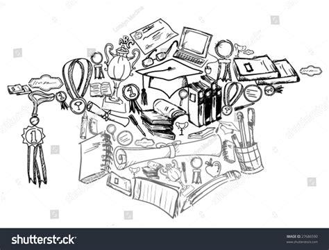 doodle graduation graduation doodles vector stock vector 27686590