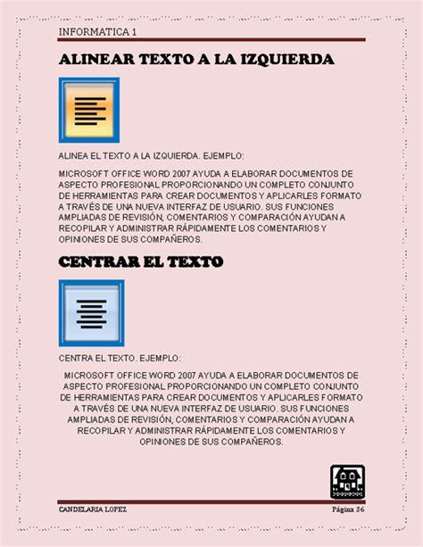 alinear imagenes horizontalmente html word ejercicios 2012 word y sus herramientas