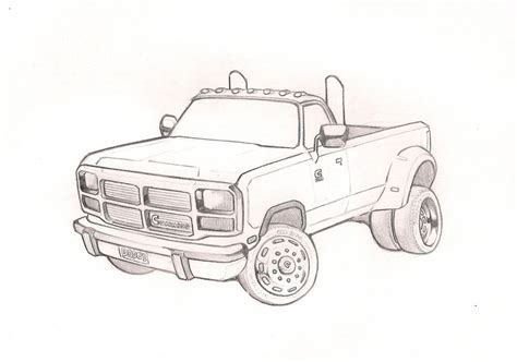 Dodge Truck Drawing Coloring Pages Dodge Truck Coloring Pages
