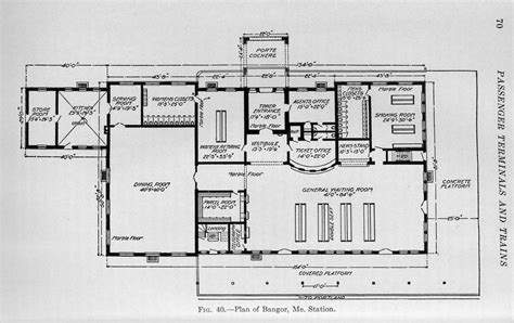 train station floor plan ground floor plan bangor me union station c1916 flickr