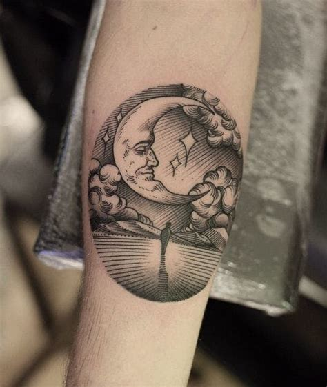 16 poetic moon tattoos tattoodo