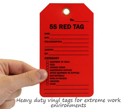 5s Red Tags 5s Tag Template