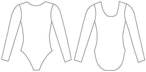 Houry Gebeshian Design My Olympic Leotard Punch Front Leotard Template Design