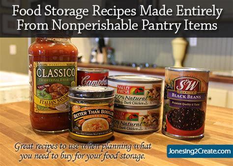 Food Pantry Recipes by Pantry Food Storage Recipes Jonesing2create