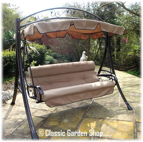 metal garden swings for adults adults luxury rimini garden patio metal frame swing seat new