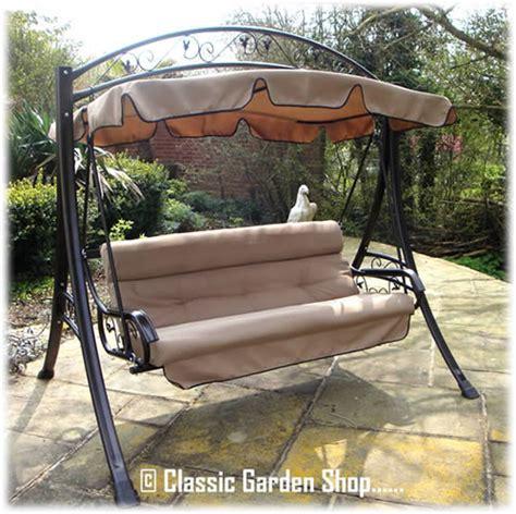 garden swing seats for adults adults luxury rimini garden patio metal frame swing seat new