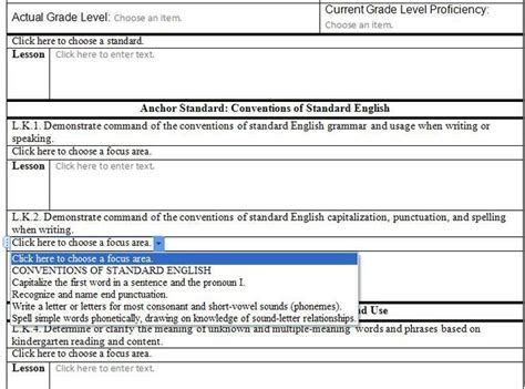 lesson plan templates for common standards 17 best images about lesson plans on math