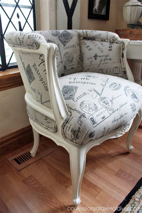 Chair Repair Upholstery Makeover by Provincial Chair Makeover Confessions Of A Serial