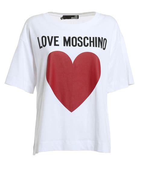 Moschino Tshirt t shirt con cuore e logo moschino t shirt ikrix