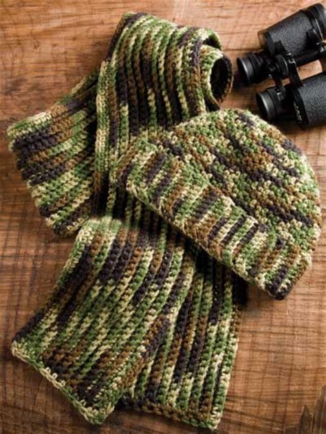 free crochet pattern for army hats crochet accessories crochet scarf patterns man s camo