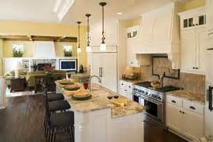 Open Kitchen Floor Plans With Islands Kitchen House Plans The House Designers