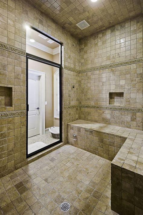 Large Bathroom Showers Large Walk In Shower Favorite Home Spaces Pinterest