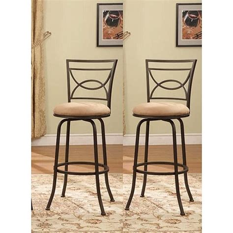 counter height swivel bar stools with backs bronze finish half circle back adjustable metal swivel