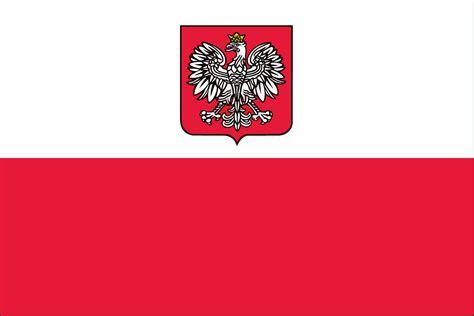 POLAND FLAG w/EAGLE   Liberty Flag & Banner Inc.