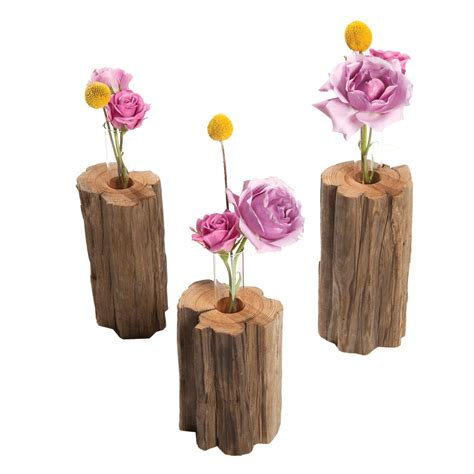 Driftwood Vase by Driftwood Square Vase 24e Design Co