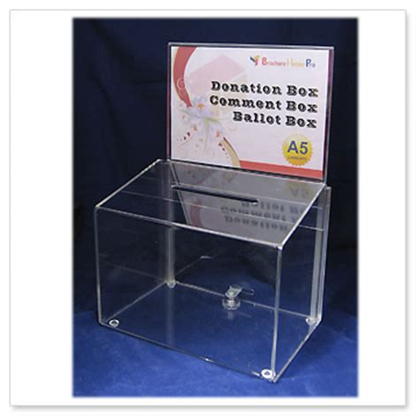 How To Make A Donation Box Out Of Paper - donnaton boxes acrylic box ballot box suggestion box
