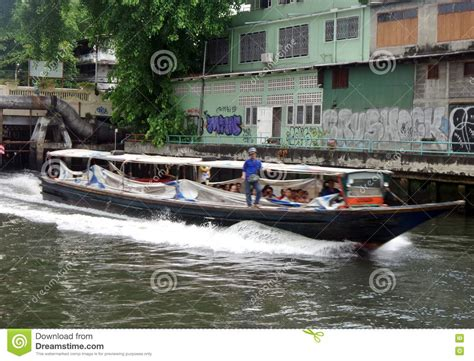 boat service in bangkok boat service on bangkok canal editorial photo image of