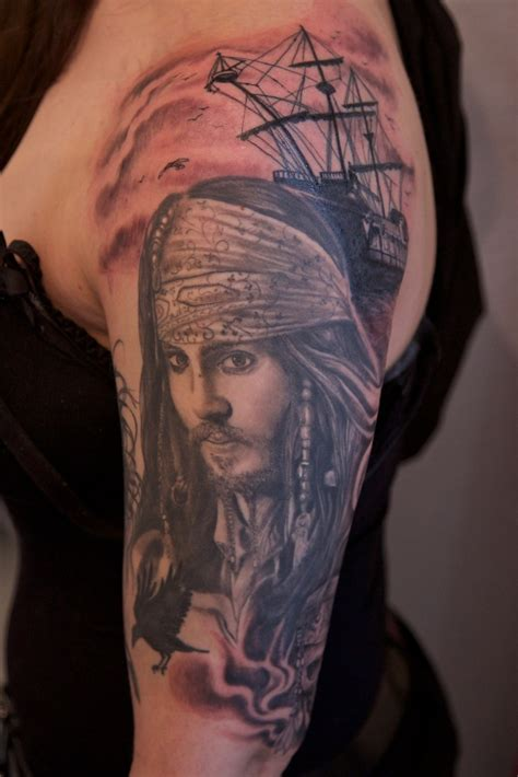 black pearl tattoos sparrow and black pearl by graynd on deviantart