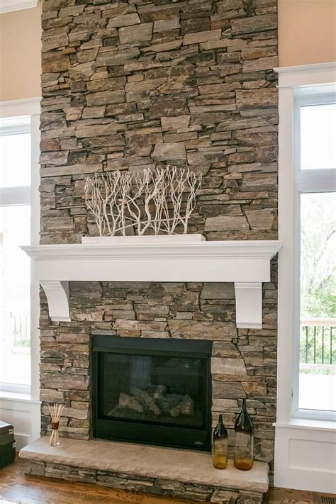 fireplaces with stone dry stacked stone fireplace design by dennis pinterest