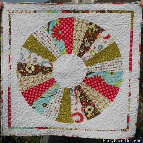Quilting By by Fairyface Designs Dresden Mini Quilt Finished