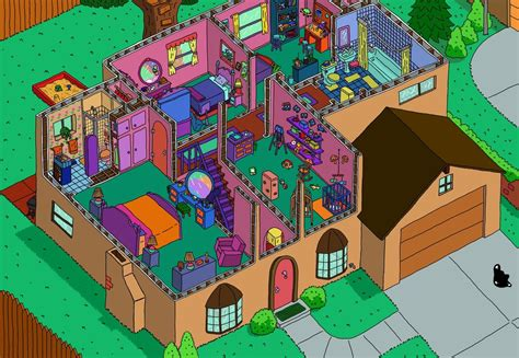 the simpsons house floor plan simpson s house cutaway of the bottom floor pics