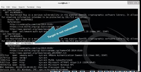 heartbleed tutorial hack heartbleed ssl bug scanning using nmap on kali linux