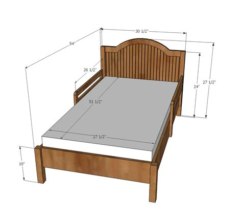 white traditional wood toddler bed diy projects