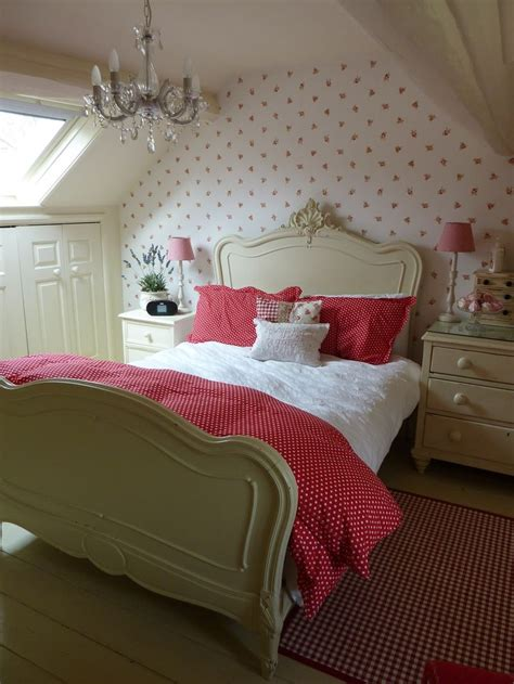 bedroom design with red wall behind bed decoist wallpapered feature wall behind bed could try this in