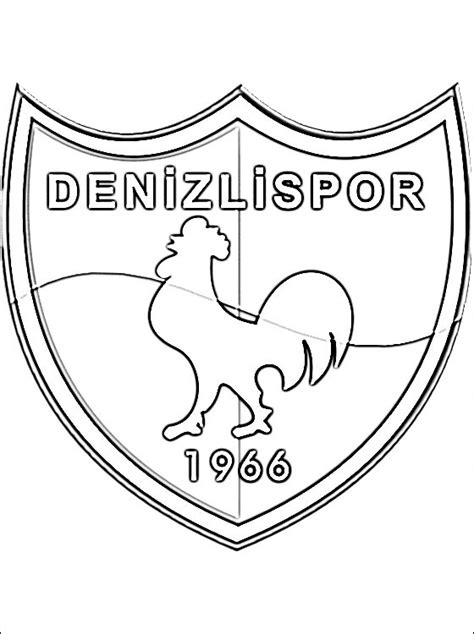 football turkey coloring page coloring page of denizlispor logo coloring pages