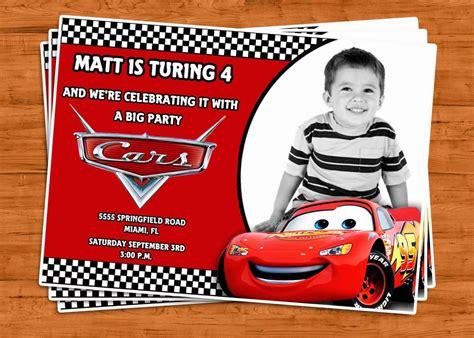 birthday invitation card template cars cars birthday invitations