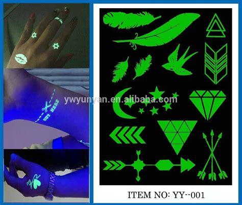 glow in the dark flash tattoo metallic flash tattoos glow in the dark temporary gold