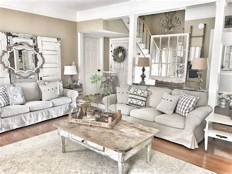 60 rustic farmhouse living room design and decor ideas