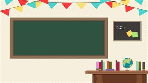 ilustrasi latar belakang kelas kartun segar musim