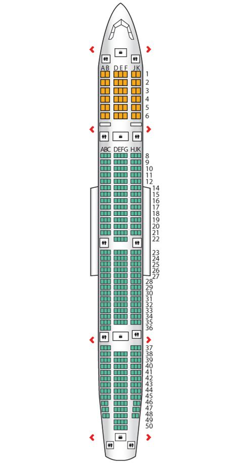 emirates seat map business class b777 300er two class emirates seat